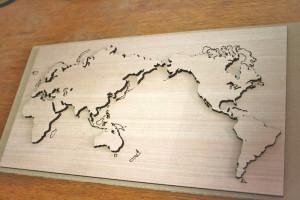 world map wood2